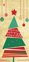 Double DL Christmas Card Design - Triangle Tree